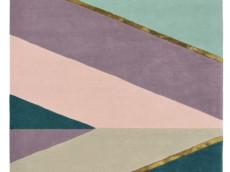 Beżowo Fioletowy Dywan Geometryczny - SAHARA PINK 56102