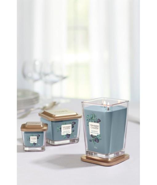 DARK BERRIES duża kwadratowa świeca z dwoma knotami