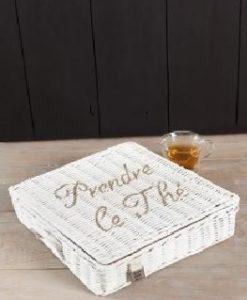 Pudełko ratanowe Prendre Tea Box 39x39x8 cm Riviera Maison