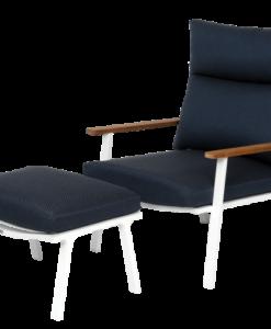 Fotel z podnóżkiem Sara